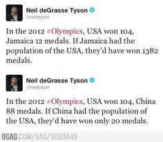 Neil deGrasse Tyson on the Olympics