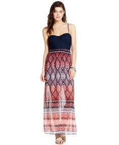 Trixxi Juniors' Crochet-Top Maxi Dress - Juniors Dresses - Macy's ...