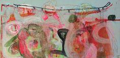 Stefanie Schairer: NYC 2. Acrylfarbe, Ölkreide, Marker auf Hartfaserplatte #startyourart #stefanieschairer #Malerei #Abstrakt #NewYork #Berlin www.startyourart.de