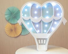 Bukvamd の Night lights, marquee letter, letter light growth chart Air Ballon, Hot Air Balloon, Night Lamps, Night Lights, Cloud Night Light, Marquee Lights, Light Letters, Baby Room Decor, Balloons