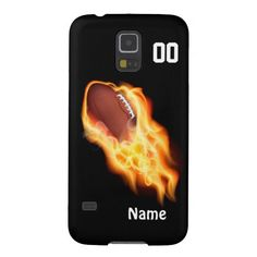 Very nice and cool Flaming Football Phone Cases YOUR NAME and NUMBER Case For Galaxy S5.   Click Link. http://www.zazzle.com/flaming_football_phone_cases_your_name_and_number-179994968010700000?rf=238012603407381242 View all products of Personalized and Customizable Football Gifts Zazzle Shop LINK: http://www.zazzle.com/littlelindapinda/gifts?cg=196532339247083789&rf=238012603407381242*