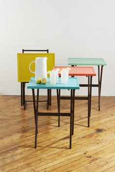 Cute, easy, love the colors! Before and Afters | TV Tray Paint Idea | The Snug