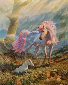 Unicorn and Foal by Tinkler