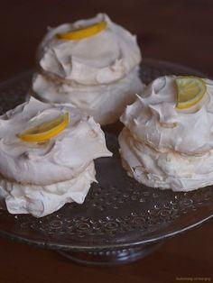 Citronové mini Pavlovy