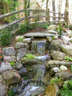 #Backyard #waterfall #WaterFeatures