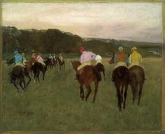 Edgar Degas, Racehorses at Longchamp, 1871.