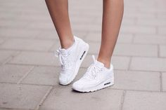 Air Max 90 White On Feet For Women