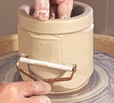 As a production potter who works for several different pottery shops in Seagrove, North Carolina, I've grown accustomed to the mass production of round after round of round pots. So when I take the time to work on my own pieces, I like to make something a little different. Lidded faceted jars bring me a …