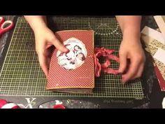 Vintage journal tags n tucks #junkjournaljunkies - YouTube Christmas Mini Albums, Christmas Journal, Christmas Books, Vintage Christmas, Christmas Projects, Journal Paper, Book Journal, Journal Themes, Journal Ideas