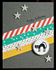 STAMP SET OF THE WEEK:Freaky FriendsEach day this week I will be featuring a different card using this NEW stamp set. AND......make sure to check my FACEBOOK PAGE--featuring even more creative cards I'm making this week!Here is my first card...
