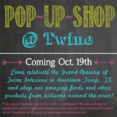 Coming soon!!! Come shop and celebrate with us!!!