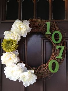 Decorative Wreath with House Number