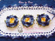 Artes da Desi: Tapete Rosa Franzida de Crochê http://www.artesdadesi.com/2014/08/tapete-rosa-franzida-de-croche.html