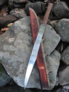 Anyone want to lend me $2000? Gorgeous broken-back style Anglo-Saxon langseax (war knife)  Blodlaetere: Anglo-Saxon Seax by HopkinsForge on Etsy