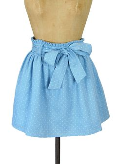 Blue Ribbon Winner Chambray Skirt - $59.99 : Spotted Moth, Chic and sweet clothing and accessories for women