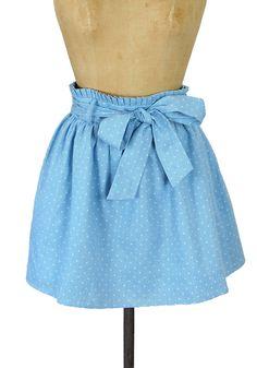Blue Ribbon Winner Chambray Skirt :) quero uma ^^