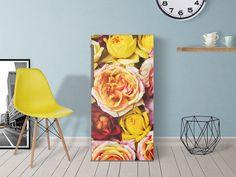Designfolie Yellow Rose für dein Kühlschrank 60x120 cm