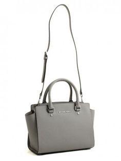 Michael Kors-selma pearl grey medium satchel-Michael Kors shop online