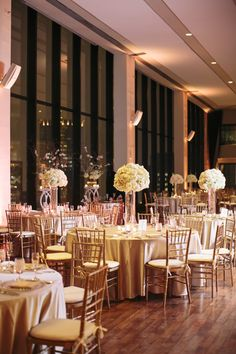 Photography : Kate Preftakes Photography | Floral Design : Michele Bernard | Venue : The State Room Read More on SMP: http://www.stylemepretty.com/massachusetts-weddings/boston/2015/05/29/black-tie-boston-winter-wonderland-wedding/