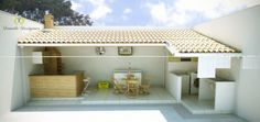 projeto churrasqueira Living Pool, Outdoor Living, Outdoor Decor, Outdoor Kitchen Design, My Dream Home, My House, House Plans, Pergola, Sweet Home