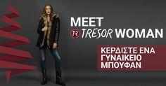 Πάρε Μέρος και ΕΣΥ στον Διαγωνισμό και Γνώρισε την Νέα Collection της ΤRESOR WOMAN. Η κλήρωση θα πραγματοποιηθεί στις 21/12/2015 Giveaways, Competition, Women's Fashion, Amazing, How To Wear, Fashion Women, Womens Fashion, Woman Fashion
