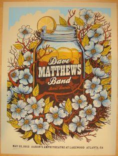 2012 Dave Matthews Band - Atlanta Concert Poster by Methane