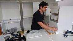 Como colocar frente em gavetas de moveis planejados - Armário de Cozinha