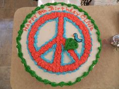 Peace sign cake for my daughter's 8th birthday.