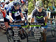 Ya tenemos la alineación del Movistar Team para el Tour Down Under y el Tour de San Luis, primeras carreras del 2014