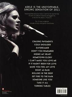 Adele - Best Of Adele - back cover album inspiration