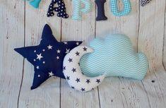 Cloud pillowMoon pillowStar Pillownavy and pillow SetBaby BeddingChristeni… – Baby Pillow Cloud