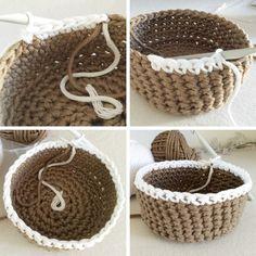 base_crochet2 Crochet Diy, Crochet Crafts, Crochet Projects, Confection Au Crochet, Easy Stitch, How To Purl Knit, Basket Weaving, Free Pattern, Knitting
