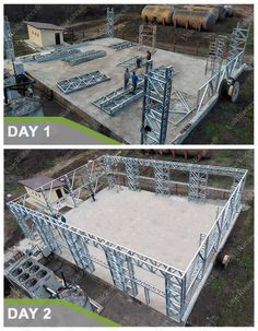 What is it like to be Unic Rotarex® partner - Lightweight steel structure modern building methods Building Systems, Building Structure, Steel Structure, Steel Buildings, Modern Buildings, Future Buildings, Steel Frame House, Steel House, Steel Framing