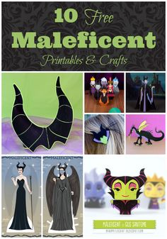 Disney's Maleficent Clip, Elle Fanning, Free Printables & Craft Ideas