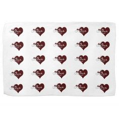 Valentines tea towel