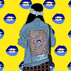 Liburan indie . #tumblrgirl #grunge #grungefashion #wolfinst #popart #drawing #illustration #artwork #90s