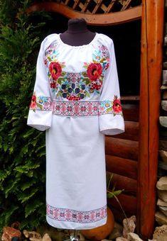 84367602818 Embroidered Dress for women s Ukrainian Vyshyvanka dress Ukrainian Style  Flowered Dress-Ethnic Dress
