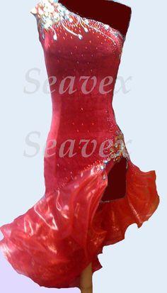 u2860 Stage Performance Ballroom latin chacha salsa samba rumba dance dress US 4 #seephoto