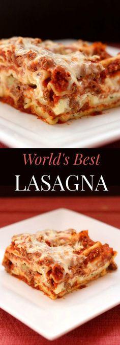 World's Best Lasagna - the quintessential recipe for this Italian comfort food classic   cupcakesandkalechips.com:
