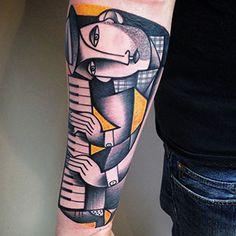 New Cubist Tattoos by Peter Aurisch