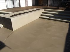 This is after we apply New Look solid stain ( Cowboy Dust) To fix the colour of this concrete