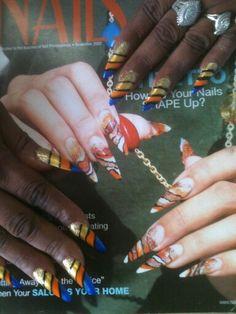 Auburn nail art (war eagle)