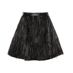 Saint Laurent - Leather skirt - This pleated number absolutely embodies the essence of the Saint Laurent girl. The layered tulle underskirt gives a feminine touch to the irregularity of the plissé leather. Wear with fishnets for an authentic rock'n'roll look. seen @ www.mytheresa.com
