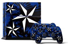 PS4 Console Designer Skin for Sony PlayStation 4 System plus Two2 Decals for PS4 Dualshock Controller North Star Blue >>> Want to know more, click on the image.Note:It is affiliate link to Amazon.