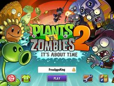 Plants vs. Zombies 2 App by PopCap. Zombie tower defense game apps.