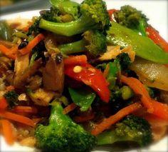 Easy Veggie Stir Fry - A Vegan Blogging Extravaganza at The Flaming Vegan