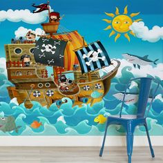 cartoon-pirate-ship-childrens-square-1-wall-murals