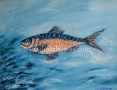 """Fish"" by Nuala Holloway - Oil on Canvas Seaside, Oil On Canvas, Fish, Pets, Artist, Animals, Animais, Animales, Animaux"