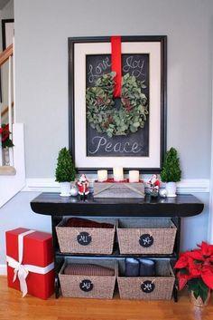 Ideas para decorar recibidores para Navidad - Contenido seleccionado con la ayuda de http://r4s.to/r4s