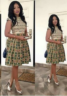 Ankara Gowns Sown and Designed on Higher Grounds for Princesses - WearitAfrica Ankara Short Gown Styles, Short African Dresses, Short Gowns, Latest African Fashion Dresses, African Print Dresses, African Print Fashion, Ankara Gowns, Dress Styles, Nigerian Fashion